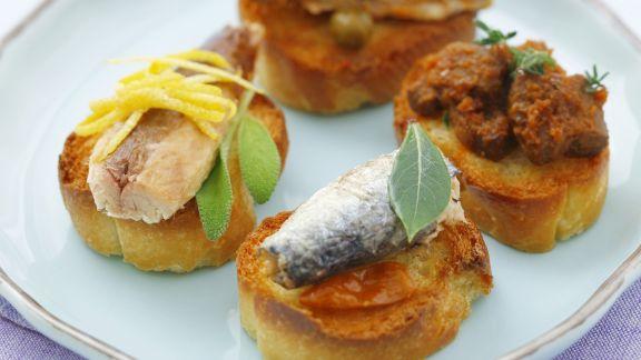 Rezept: Häppchen mit Sardinen und Makrele