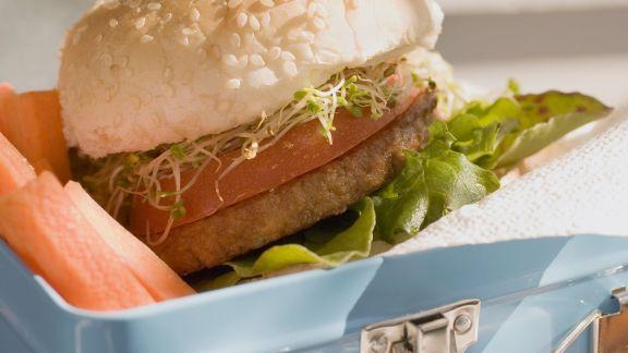 Rezept: Hamburger und Gemüsesticks