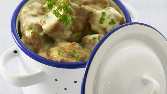 Rezept: Helles Ragout aus Kalbsfleisch (Blanquette de veau)