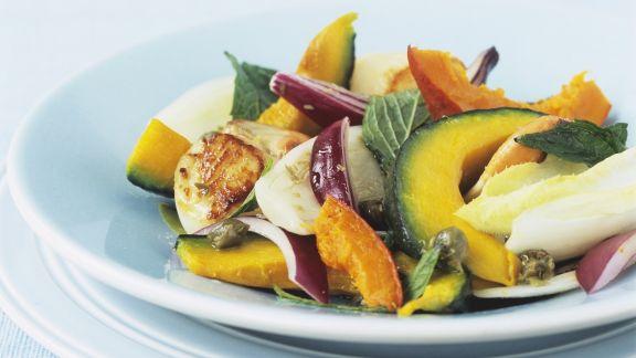 Rezept: Herbstsalat mit Kürbis