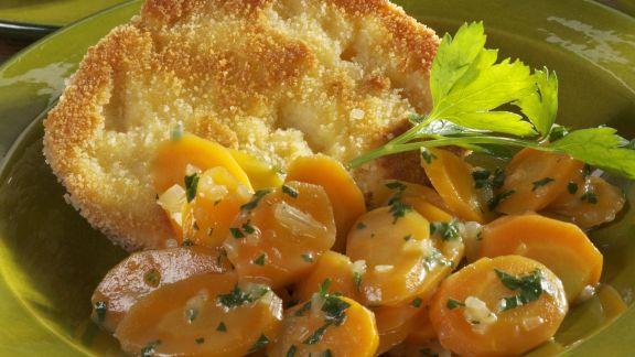 Rezept: Herzhafte arme Ritter mit Karotten