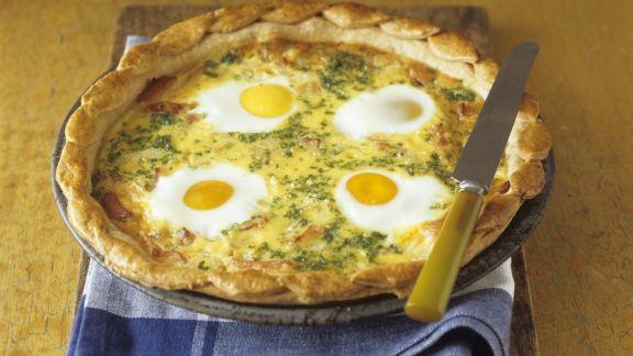 Rezept: Herzhafter Eier-Speck-Kuchen