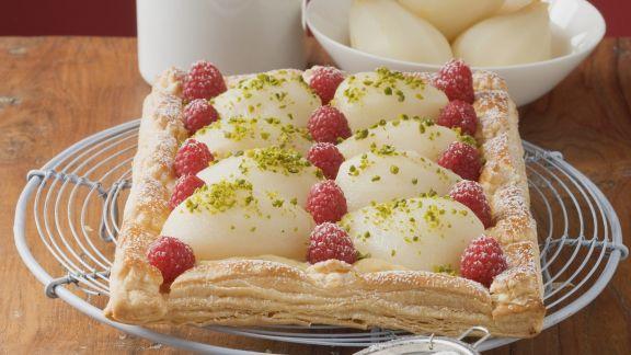 Rezept: Himbeer-Birnen-Kuchen