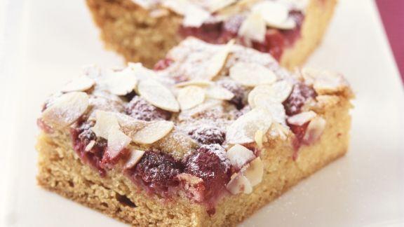 Rezept: Himbeer-Mandel-Kuchen