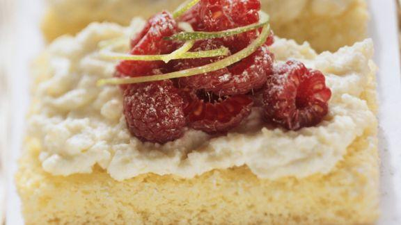 Rezept: Himbeer-Ricotta-Kuchen