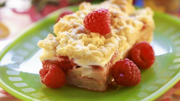 Rezept: Himbeer-Streuselkuchen
