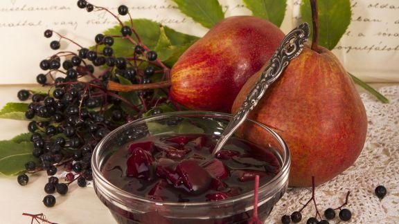 Rezept: Holunderbeeren-Birnen-Kompott