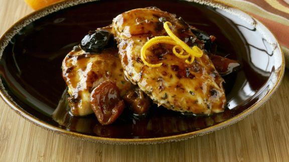 Rezept: Honig-Hähnchenbrust mit Trockenobst