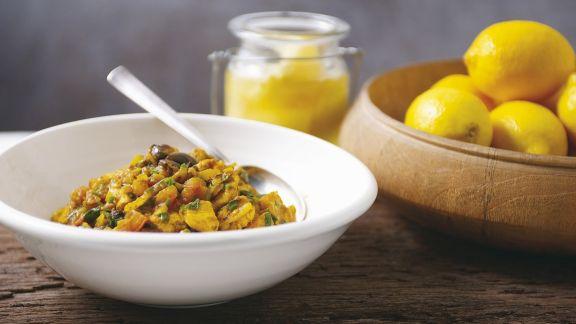 Rezept: Hühnchen mit Olive und Zitrone auf marokkanische Art