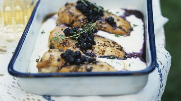 Rezept: Hühnchenfilet mit Blaubeeren