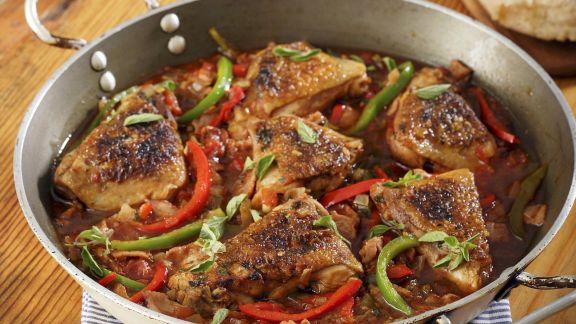 Rezept: Hühnchenpfanne auf spanische Art