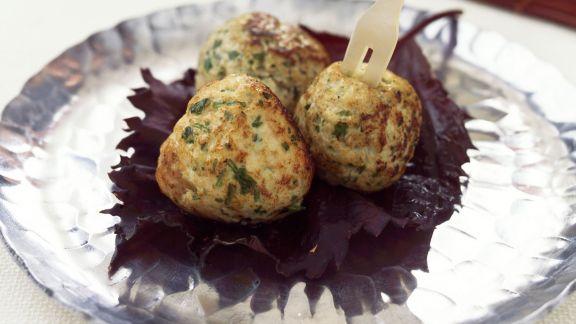 Rezept: Hühnerbällchen mit Koriandergrün