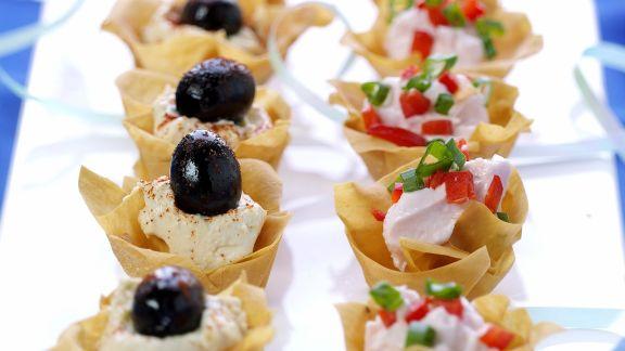 Rezept: Hummus-Filoteig-Küchlein