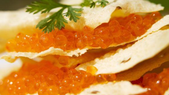 Rezept: Indisches Fladenbrot (Papadams) mit Kaviar