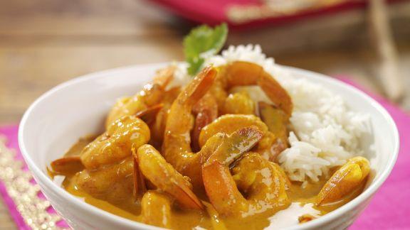 indisches garnelen curry mit reis rezept eat smarter. Black Bedroom Furniture Sets. Home Design Ideas