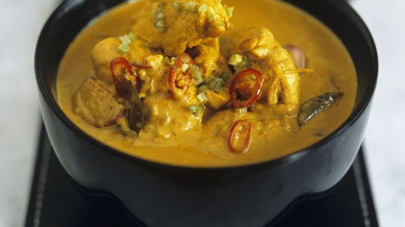 Rezept: Indisches Hähnchencurry (Chicken Korma)
