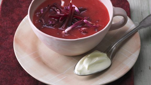 Rezept: Ingwer-Rote-Bete-Suppe