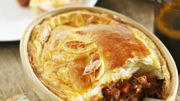 Rezept: Irische Rindfleischpaste (Beef and Guiness Pie)