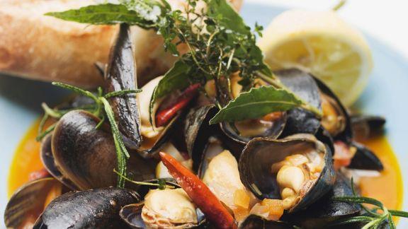 Rezept: Italienische Muschelsuppe (Zuppa di cozze)