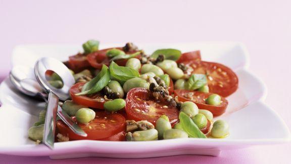 Rezept: Italienischer Bohnensalat mit Tomaten