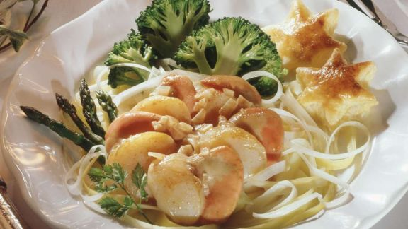 Rezept: Jacobsmuscheln mit Gemüse