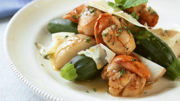 Rezept: Jakobsmuscheln mit Zucchini