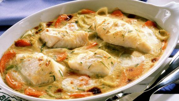 Rezept: Kabeljau-Gemüse-Auflauf