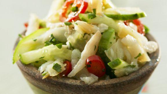 Rezept: Kabeljau mit Gemüse auf kreolische Art