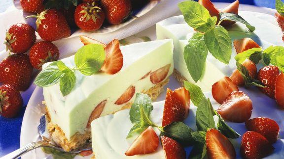 Rezept: Käse-Erdbeerkuchen mit Knusperboden