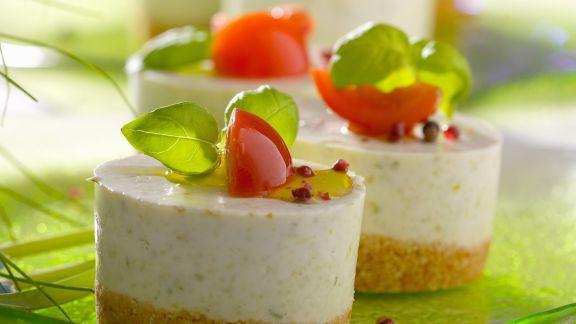 Rezept: Käse-Knoblauch-Törtchen