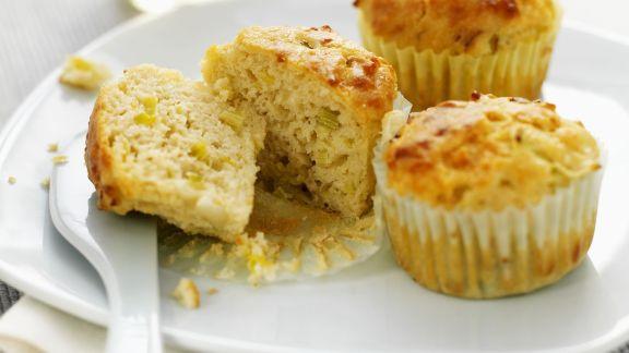 Rezept: Käse-Muffins mit Lauch