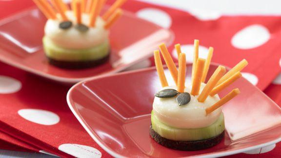 Rezept: Käseigel mit Möhrenstiften
