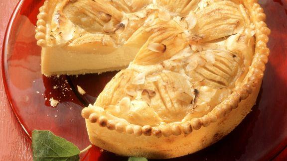 Rezept: Käsekuchen mit Äpfeln