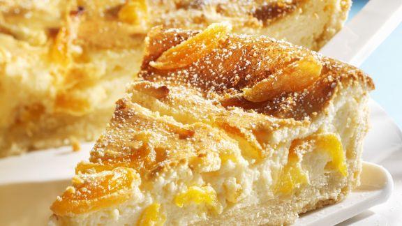 Rezept: Käsekuchen mit getrockneten Aprikosen