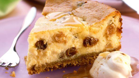 Rezept: Käsekuchen mit Honigsoße