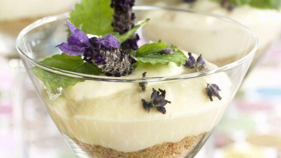 Rezept: Käsekuchen mit Lavendel