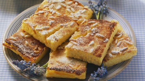 Rezept: Käsekuchen mit Maisgrieß und Orangenaroma