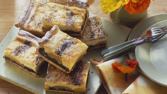 Rezept: Käsekuchen mit Mohn und Aprikosen