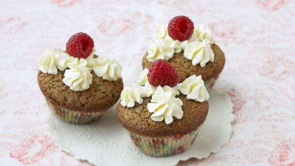 Rezept: Kaffee-Cupcake mit Vanillecreme