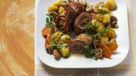 Rezept: Kalbsröllchen mit Gemüse