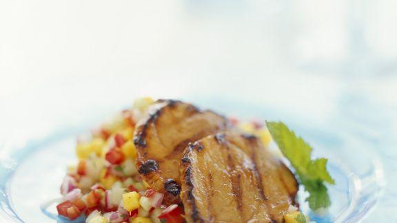 Rezept: Kalbsschnitzel mit Mangosalsa
