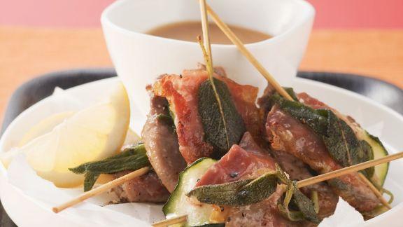 Rezept: Kalbsschnitzel mit Parmaschinken und Salbei (Saltimbocca alla romana)