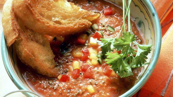 Rezept: Kalte spanische Gemüsesuppe