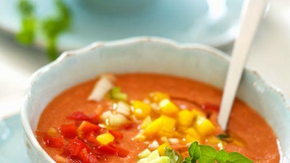 Rezept: Kalte spanische Suppe (Gazpacho)
