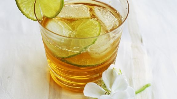Rezept: Kalter grüner Tee mit Ingwer