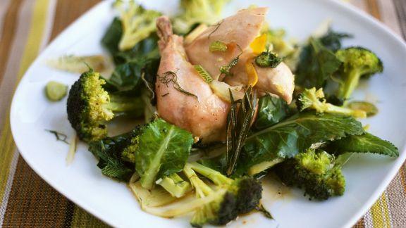 Rezept: Kaninchen mit Gemüse