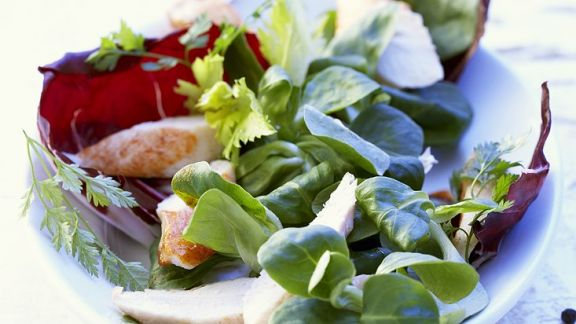 Rezept: Kaninchenfilet mit Salat