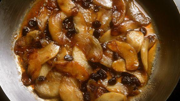 Rezept: Karamellisierte Apfelspalten