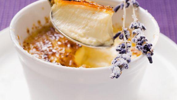 Rezept: Karamellisierte Creme mit Fenchel und Lavendel
