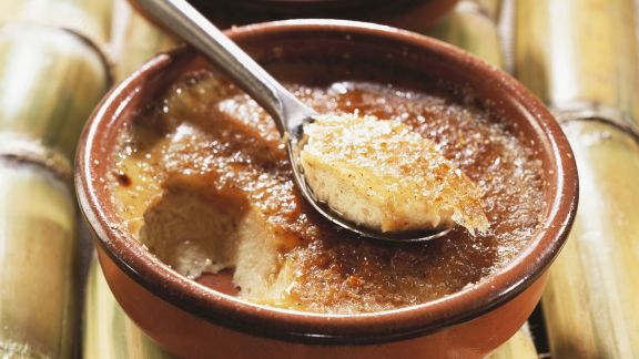 Rezept: Karamellisierte Kokoscreme (Creme brulee)